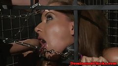 Babe pussy punished by her dom master