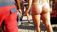Candid thick blonde pawg!!