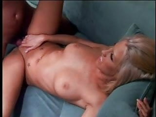 Cute blonde with nice big tits loves to ride a big hard cock after blowjob