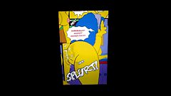 Marge Simpson's ass cum tribute 2