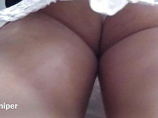 Upskirt Sexy White Panty With Busty Ass