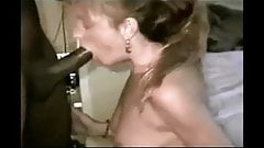 Blonde MILF gets her throat abused by her BBC master's Thumb