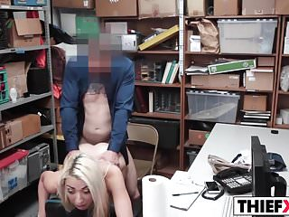 Hot Blonde Sweety Thief Gets Fucked