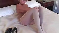 Check My MILF blonde with in white pantyhose