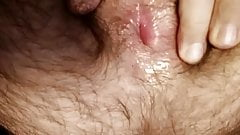 Fingering a hairy hole for you