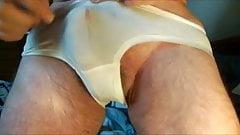 Cumming in bige panties