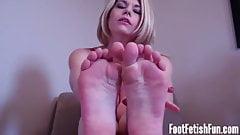 My feet will feel so good on your rock hard cock