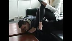 Mistress with useful office Boy
