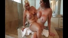 Busty Lesbians In Shower