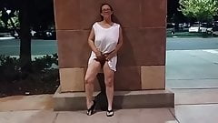 Splackum! Wife Flashing At Mall!