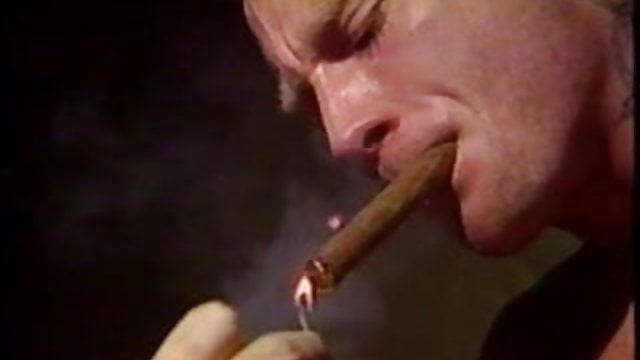 Cigar Smoking Biker Leather Porn -