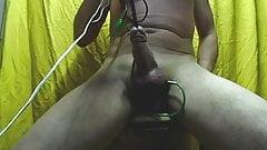 electrodes balls in ass and urethra estim cum