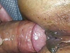 Missionary anal sex after a long hard session