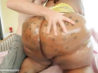 70 inch Ass Black BBW Fucks Huge Cock White Stud Levi Cash