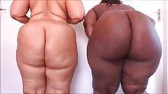 Two ebony big asses