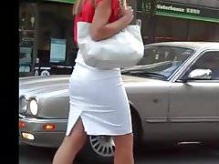 Sexy Candid Secretary in Tight Skirt