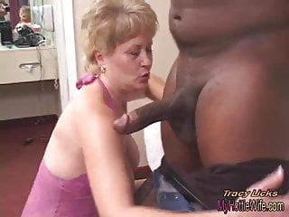 Preview 2 of Tracy Licks.....Takes MrNuttz's 9 inch, big, black cock!!