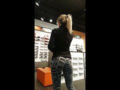 Cute Blonde, Great Ass, Tight Pants