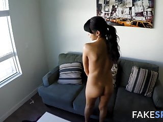 Adorable latina rides her employers big cock vigorously