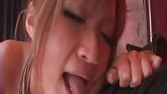 Tanned Japanese blowjob - uncensored