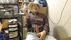 Hot Cowboy Dad Smoke and Stroke