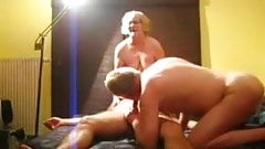 Mature bi-couple enjoy lovers cock
