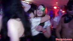 Amateur euro squirts on dancefloor
