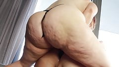 BBW takes control with her strapon