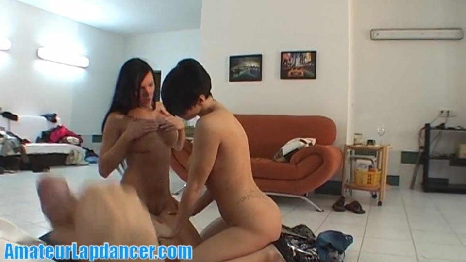 Kinky lesbians doing a HOT lapdance show