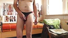 sexy string schwarzrot