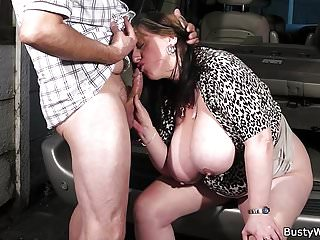All kind of sex action with busty woman at work