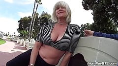 German nympho milf in public