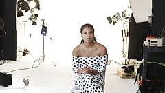Zazie Beetz interview in sexy dress