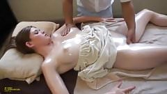 Teen gets horny in massage