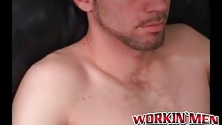 Trucker dude Jason enjoys stroking one off after work