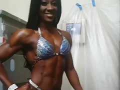 hot ebony fitness model