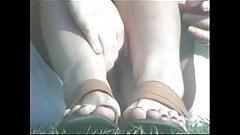 Thin Pantie Upskirt In Park