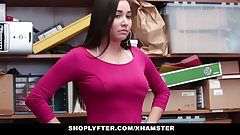 Shoplyfter -Teen thief Karlee Grey stripped and fucked