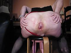 Big Ass fist fuck and pissed on by the Mistress