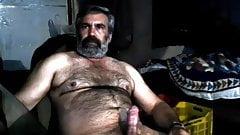 Shirtless Arab bear daddy