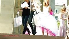 Upskirt Bride Pink Dress