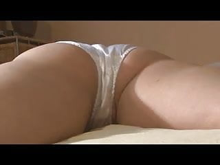Cum in white satin panties and smell them