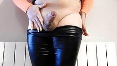 Amateur CD large cum with beauty cock.