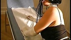 French slave with a latex mask gets hard fucked