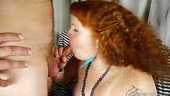 Raunchy chubby redhead loves to fuck & a facial cumshot