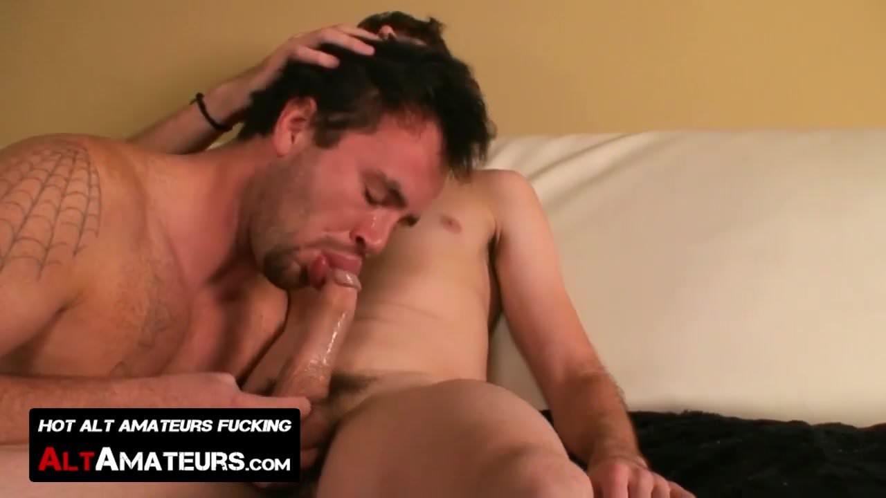 Renan Valentine and Ryan Starr blow each other passionately