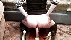 Sissy Slut Evy Bottomless Dildo Ass Fuck