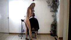 Nude hairdresser