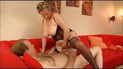 Stunning German Granny fucks her husband in stockings