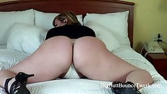 PAWG shakes her fat white ass